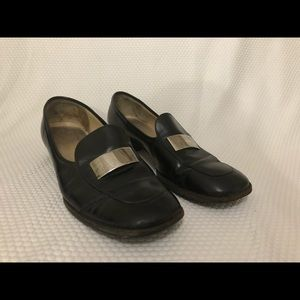 GUCCI Loafer Shoes Black Leather